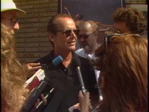 actor jack nicholson says that he is proud to be part of the live aid charity concert. - music or celebrities or fashion or film industry or film premiere or youth culture or novelty item or vacations stock videos & royalty-free footage