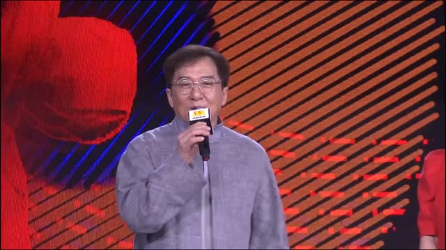 vídeos de stock e filmes b-roll de actor jackie chan attends a press conference of the 6th jackie chan international action film week on july 15, 2021 in beijing, china. - jackie chan