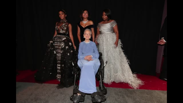 actor janelle monae nasa mathematician katherine johnson and actors taraji p henson and octavia spencer pose backstage at the 89th annual academy... - mathematician stock videos & royalty-free footage