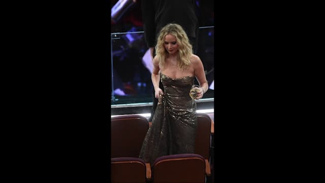 actor jennifer lawrence in the audience during the 90th annual academy awards at the dolby theatre at hollywood highland center on march 4 2018 in... - 90th annual academy awards stock videos & royalty-free footage
