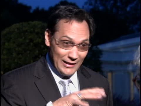 actor jimmy smits talks about the importance of the fiesta latina event at the white house. - jimmy smits stock videos & royalty-free footage