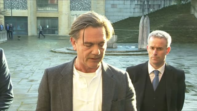 actor john michie giving his statement outside court after his daughter louella's boyfriend was sentenced to manslaughter for not helping her when... - soap opera stock videos & royalty-free footage