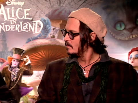 Actor Johnny Depp and Director Tim Burton on how suited Mia Wasikowska was for the role of Alice on her rich and grounded personality at the Alice In...