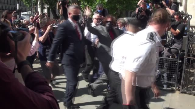 us actor johnny depp arrives for his libel case against the sun newspaper at the royal courts of justice on july 21 2020 in london england the... - libel stock videos & royalty-free footage
