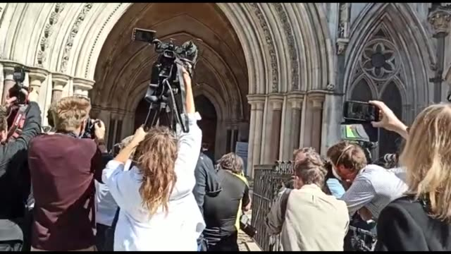 actor johnny depp arriving at the high court in london for a hearing in his libel case against the publishers of the sun and its executive editor dan... - johnny depp stock videos & royalty-free footage