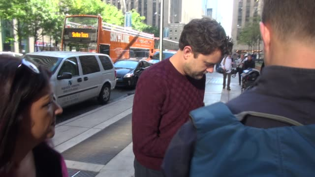 Actor Joshua Jackson at SiriusXM Satellite Radio and signs for fans in New York City at Celebrity Sightings in New York