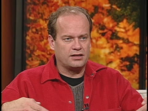 """actor kelsey grammer discusses his new autobiography """"so far"""". - 伝記点の映像素材/bロール"""