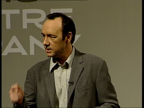 actor kevin spacey press conference: jokes about park mugging incident:; kevin spacey press conference sot - before i begin i'd like to put to rest a... - john gielgud stock videos & royalty-free footage