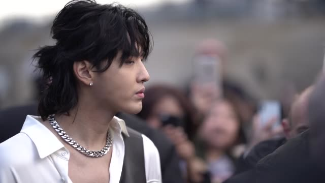 stockvideo's en b-roll-footage met actor kris wu is seen outside louis vuitton during paris fashion week menswear f/w 20192020 on january 17 2019 in paris france - louis vuitton modelabel