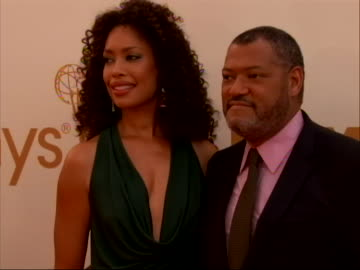 actor laurence fishburne on the red carpet for 2011 emmy awards on september 18 the 63rd annual primetime emmy awards - day in the life series stock videos & royalty-free footage