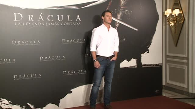 actor luke evans attends the 'dracula untold' photocall at villamagna hotel - count dracula stock videos & royalty-free footage