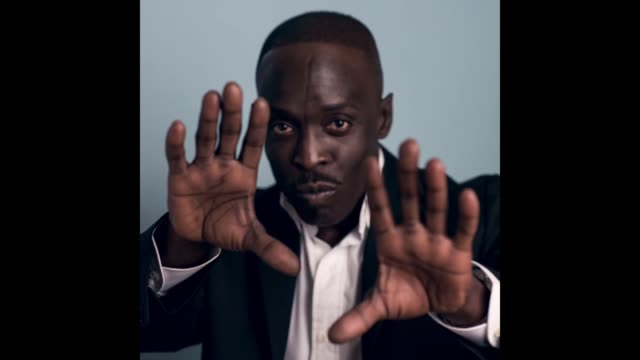 actor michael k williams poses for a portrait bbc america bafta los angeles tv tea party 2017 at the the beverly hilton hotel on september 16 2017 in... - bafta la tea party stock videos and b-roll footage
