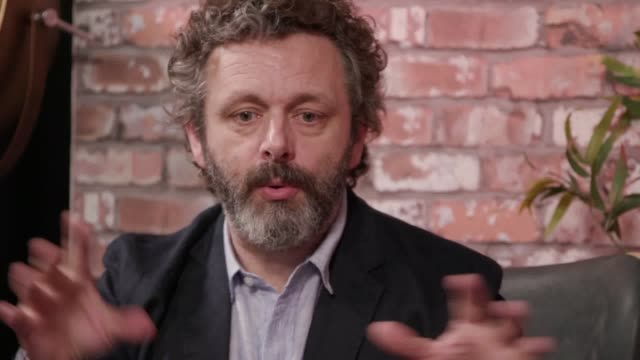 actor michael sheen talks ahead of the homeless world cup in cardiff. the competition will start on july 27 and will have players competing from 50... - michael sheen bildbanksvideor och videomaterial från bakom kulisserna