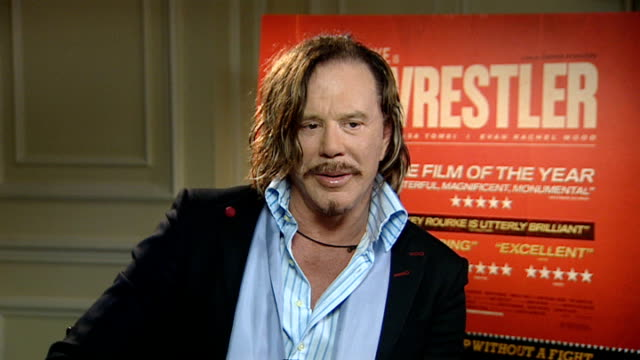 actor mickey rourke to star in new film 'the wrestler' mickey rourke interview sot on the likelihood of an oscar nomination and the hard work he put... - mickey rourke actor stock videos & royalty-free footage