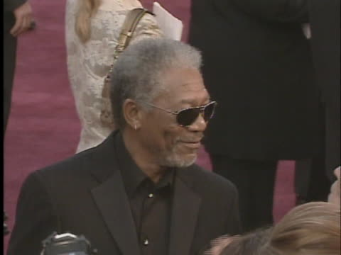 actor morgan freeman arrives at the 2005 oscars - 77th annual academy awards stock videos & royalty-free footage