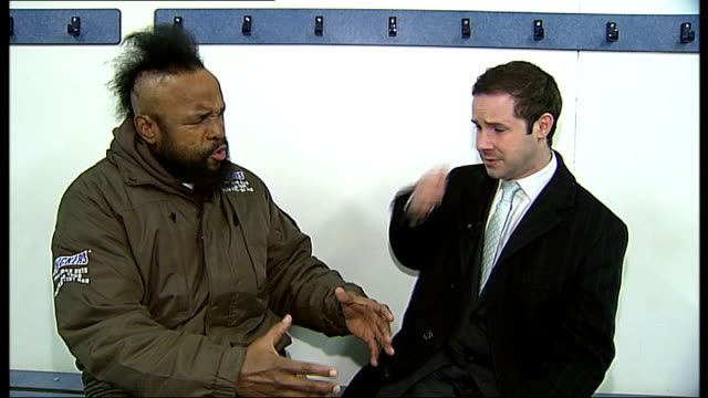 actor mr t arrives in london for his 'snickers get some nuts' tour of the uk; actor mr t arrives in london for his 'snickers get some nuts' tour of... - bodyweight training stock videos & royalty-free footage