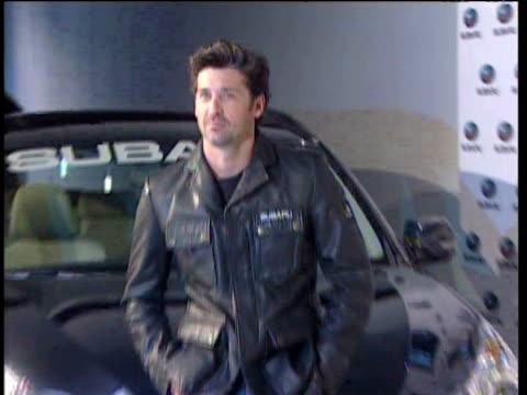 actor patrick dempsey presents a new car by subaru. madrid, spain . - subaru stock videos & royalty-free footage