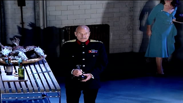 actor patrick stewart to appear as 'macbeth' in london england london gielgud theatre int stewart appearing in rehearsal for 20th century dress... - william shakespeare stock videos & royalty-free footage