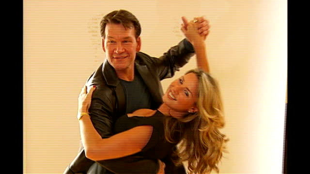 Actor Patrick Swayze diagnosed with cancer **FLASH Swayze posing for photocall with Claire Sweeney