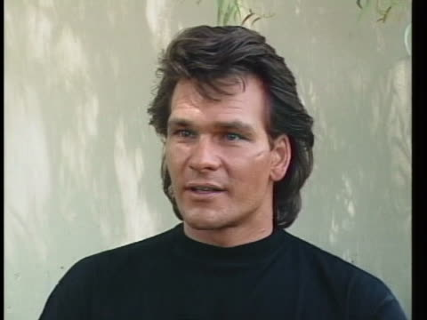actor patrick swayze, starring in roadhouse, says he grew up around red-neck bars. - patrick swayze stock videos & royalty-free footage