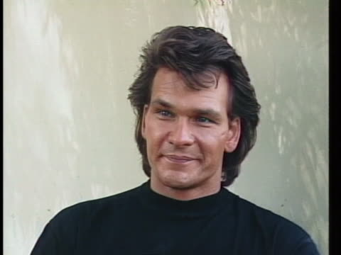 """actor patrick swayze, starring in roadhouse, says he would most likely do """"dirty dancing ii"""". - patrick swayze stock videos & royalty-free footage"""
