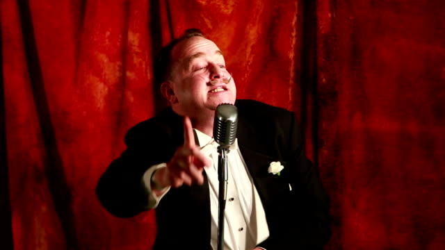 ms actor performing long speech / santa fe, new mexico, usa - raised eyebrows stock videos & royalty-free footage