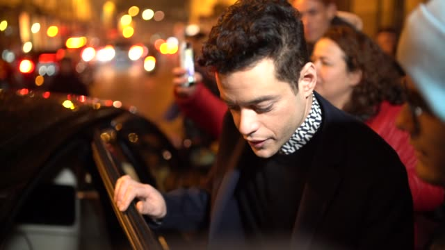 Actor Rami Malek outside Valentino during Paris Fashion Week Haute Couture Spring Summer 2020 on January 23 2019 in Paris France