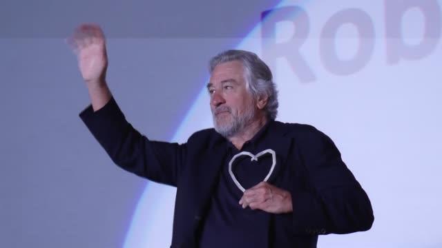 "actor robert de niro opens the 22nd sarajevo film festival where he received the festival's first lifetime achievement award ""the heart of sarajevo... - 生涯功労賞点の映像素材/bロール"