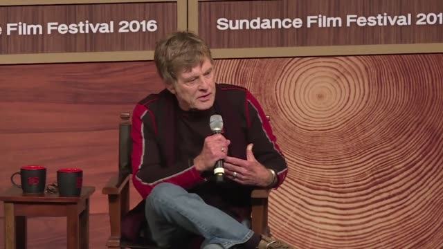 stockvideo's en b-roll-footage met actor robert redford on thursday opened the 2016 sundance festival dedicated to independent films - sundance film festival