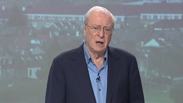 vídeos de stock e filmes b-roll de actor sir michael caine on encounters with disenfranchised youth as he expresses support for conservative party proposed national citizen service... - michael caine ator
