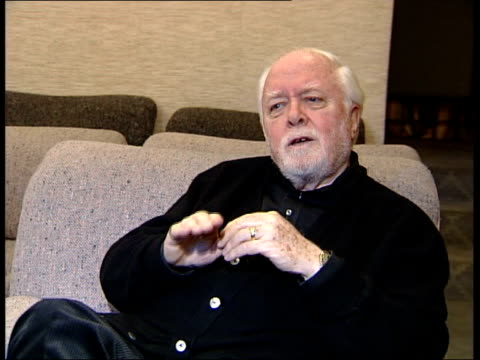actor sir peter ustinov dies itn london lord attenborough interview sot - peter ustinov stock videos and b-roll footage