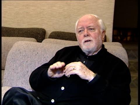 actor sir peter ustinov dies; itn england: london: int cms lord attenborough interview sot - peter ustinov点の映像素材/bロール