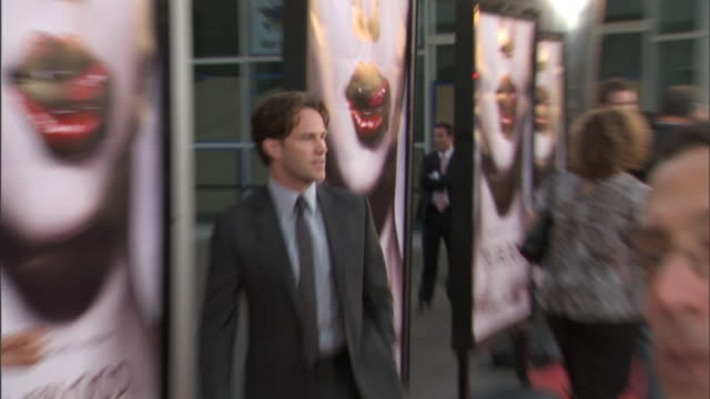 HD Actor Stephen Moyer on red carpet outside the Cinerama Dome posing for press photographs