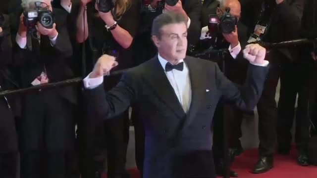 FRA: Sylvester Stallone on the red carpet of Cannes for First Blood screening