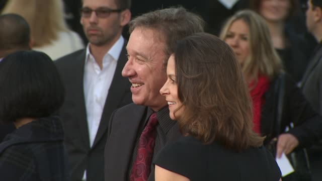 actor tim allen jane hajduk at the 2010 producers guild awards at hollywood ca - tim allen stock videos and b-roll footage