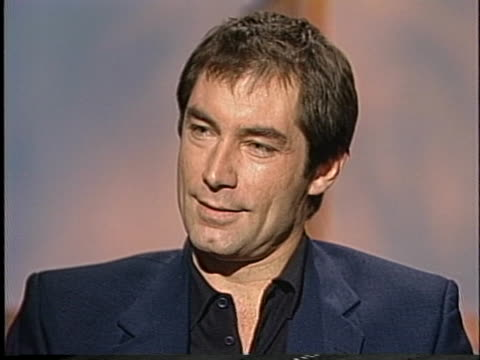 actor timothy dalton discusses his role as james bond. - music or celebrities or fashion or film industry or film premiere or youth culture or novelty item or vacations stock videos & royalty-free footage