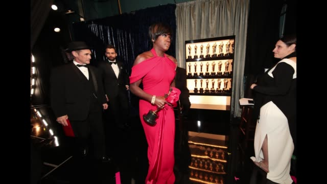 Actor Viola Davis seen backstage at the 89th Annual Academy Awards at Hollywood Highland Center on February 26 2017 in Hollywood California