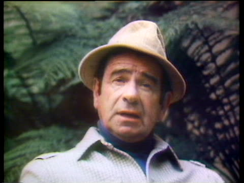 stockvideo's en b-roll-footage met actor walter matthau says he doesn't gamble anymore after a disastrous loss by the los angeles rams. - sport