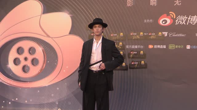 actor wu lei attends 2021 weibo movie awards ceremony on june 12, 2021 in shanghai, china. footage by vcg) - celeb stock videos & royalty-free footage