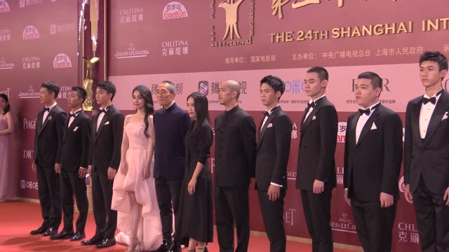 actor zhang yi , actress lin boyang , actor zhang yu , director zhang yimou and director zhang mo attend opening ceremony of the 24th shanghai... - celeb stock videos & royalty-free footage