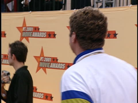 actorcomedian will ferrell arrives at the 2001 mtv movie awards ceremonies wearing an eye patch in los angeles - mtv movie & tv awards stock videos & royalty-free footage