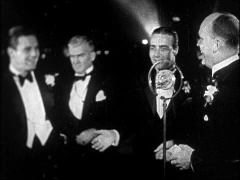 "actors at ""interference"" premiere / newsreel - 1928 stock videos & royalty-free footage"