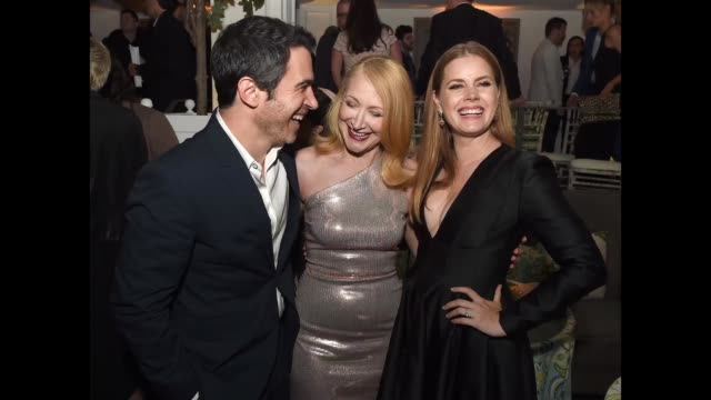 actors chris messina patricia clarkson and amy adams pose at the after party for the premiere of hbo's sharp objects at the boulevard3 on june 26... - premiere video stock e b–roll