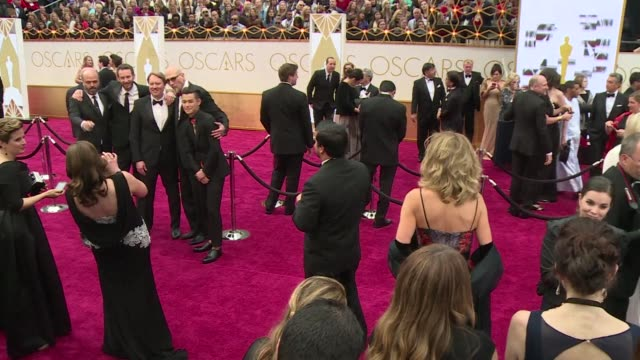 Actors directors and other celebrities arrive on the red carpet ahead of the 87th annual Academy Awards