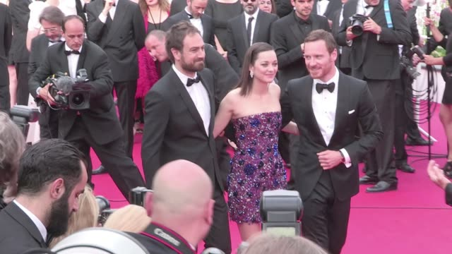 actors elizabeth debicki, david thewlis,michael fassbender,marion cotillard and director justin kurzel attend the red carpet of macbeth during the... - macbeth fictional character stock videos & royalty-free footage