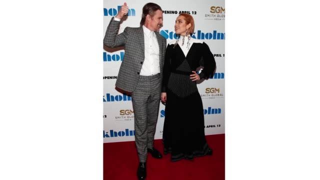 Actors Ethan Hawke and Noomi Rapace attend the 'Stockholm' New York Premiere at Museum of Modern Art on April 11 2019 in New York City
