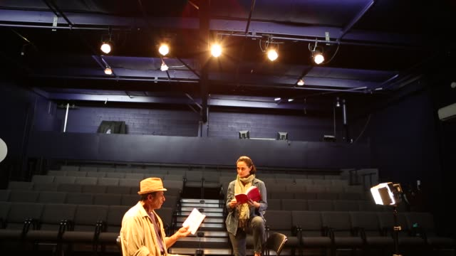 actors in theater rehearsing - actor stock videos & royalty-free footage