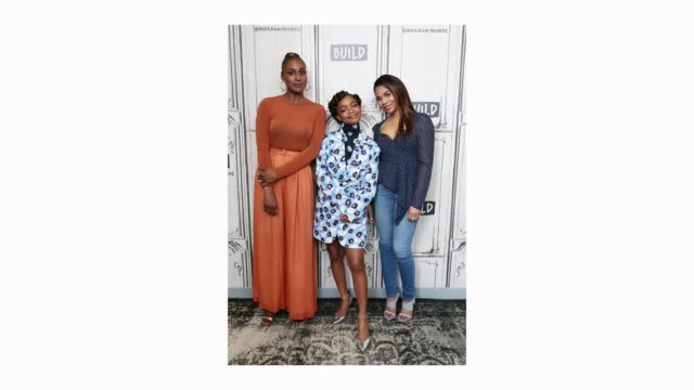 Actors Issa Rae Marsai Martin and Regina Hall visit Build Studio to discuss their new film 'Little' on April 02 2019 in New York City