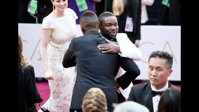 Actors Mahershala Ali and David Oyelowo attend the 89th Annual Academy Awards at Hollywood Highland Center on February 26 2017 in Hollywood California