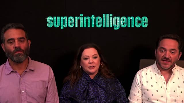 actors melissa mccarthy and bobby cannavale discuss their new movie superintelligence, along with the director, ben falcone. the sci-fi comedy film... - ben falcone stock videos & royalty-free footage